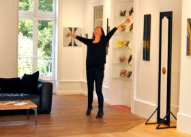 EMG - in her new Galerie d'Art in Burgundy France!
